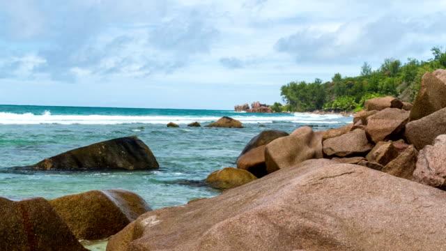 Timelapse of a beach in La Digue - Seychelles video