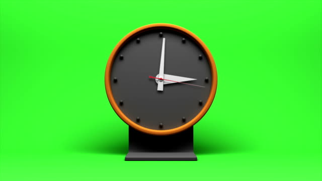 Timelapse of an animated clock going through 12 hours video
