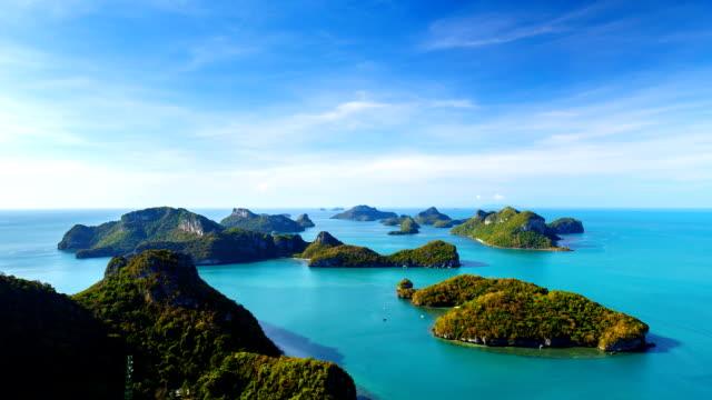タイムラプスのアーントーン国立海洋公園、タイのコーサムイ - サムイ島点の映像素材/bロール