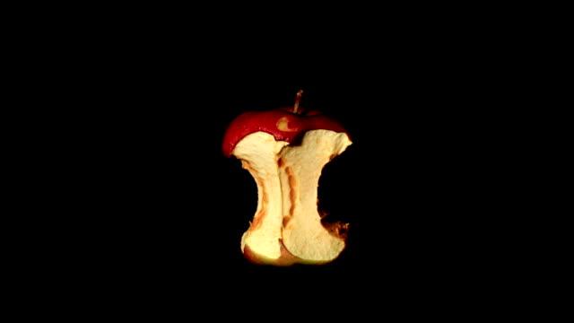 timelapse von apple core verfallenen - verfault stock-videos und b-roll-filmmaterial
