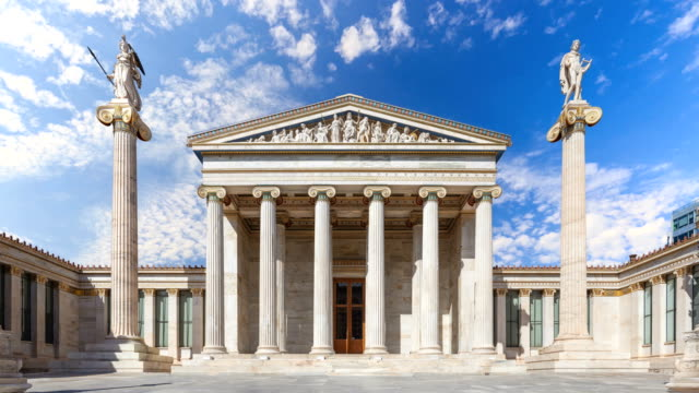 timelapse of athens - greek architecture stock videos & royalty-free footage