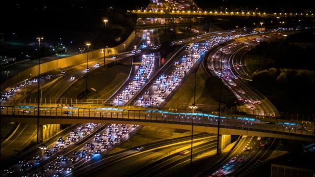 Time-lapse of Atlanta Traffic at Night - video