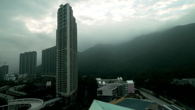 Timelapse of bad weather in Hong Kong video