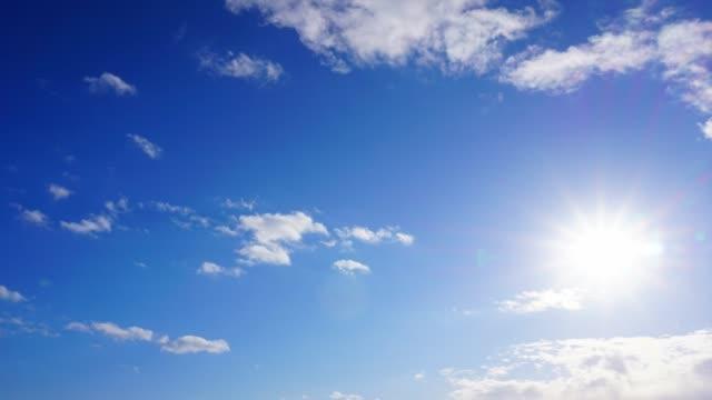 日本 4 k 解像度映像の青い空と雲の時間経過 - 青空点の映像素材/bロール