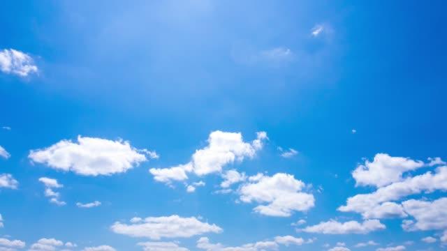 vídeos y material grabado en eventos de stock de time-lapse de cielo azul y nubes en imágenes de resolución 4k de japón - blue sky