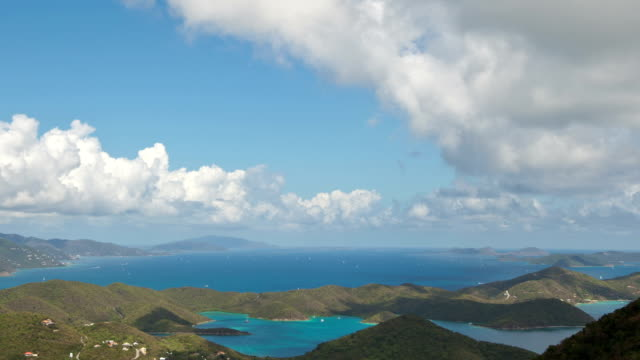 time-lapse of boat traffic between US and British Virgin Islands video