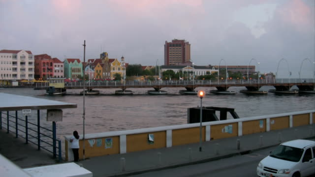 Timelapse of boatbridge closing Timelapse of the closing boatbridge in Willemstad Curaçao curaçao stock videos & royalty-free footage