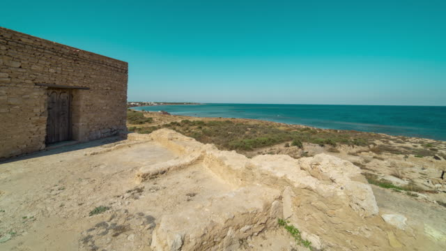 Timelapse of Borj Hassar Archeological site in Kerkennah, Tunisia