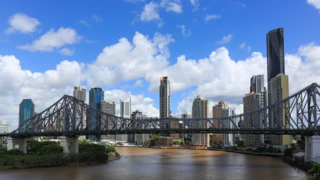 4K Timelapse of Brisbane Cityscape, Australia video
