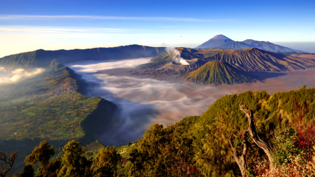 Timelapse Of Bromo volcano at sunrise, East Java, Indonesia video