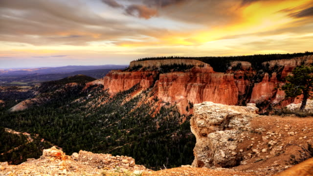 Timelapse of Bryce Canyon at sunset video