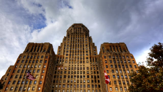 Timelapse of Buffalo City Hall in New York A Timelapse of Buffalo City Hall in New York vintage architecture stock videos & royalty-free footage