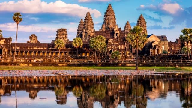 Timelapse of Cambodia landmark Angkor Wat