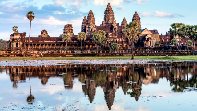 Timelapse of Cambodia landmark Angkor Wat video