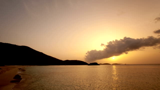 time-lapse of Cinnamon Bay, St.John, USVI during sunset video