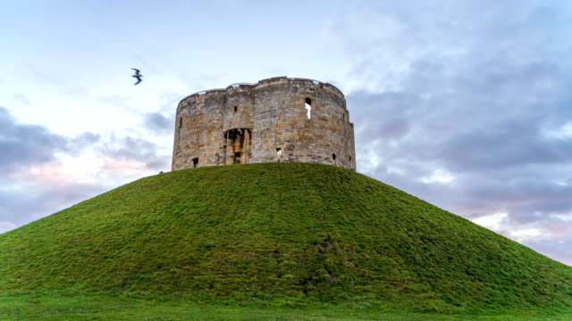 Timelapse of Clifford's Tower in York, England, UK | English Heritage