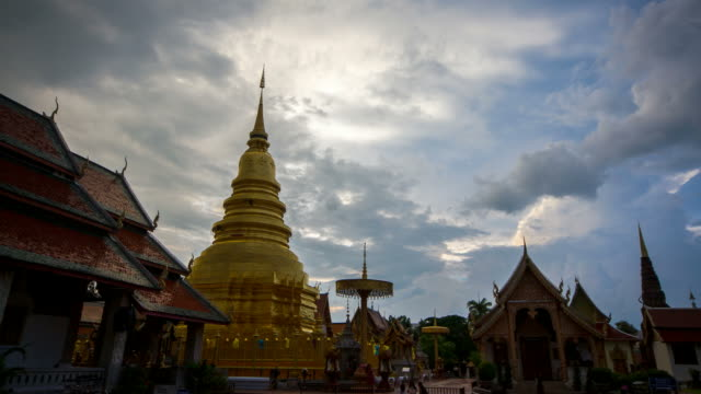 Time-Lapse of Cloud Moving at Chiang Mai Buddhist Temple, Thailand video