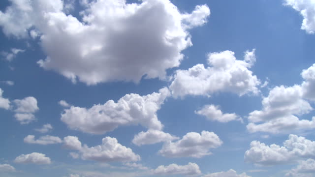 time-lapse of clouds in blue sky video