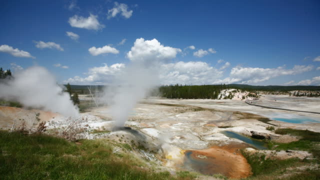 Timelapse of clouds over Norris Geyser Basin video