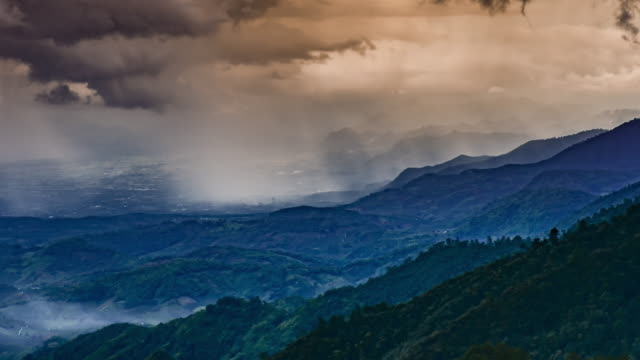 Time-lapse of Clouds storm on the mountain before raining , 4k(UHD) video