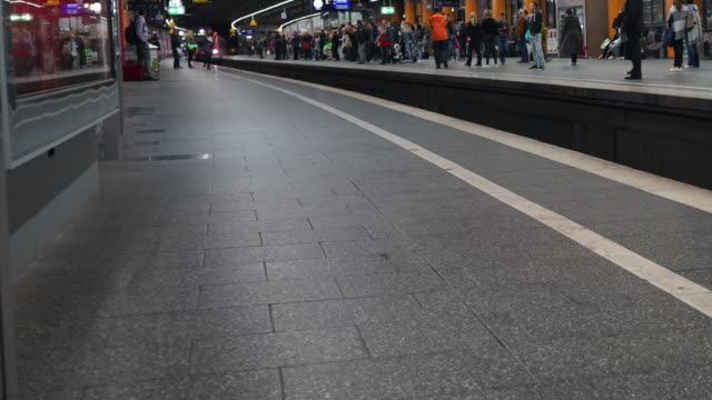 Time-lapse of commuter at railway station video