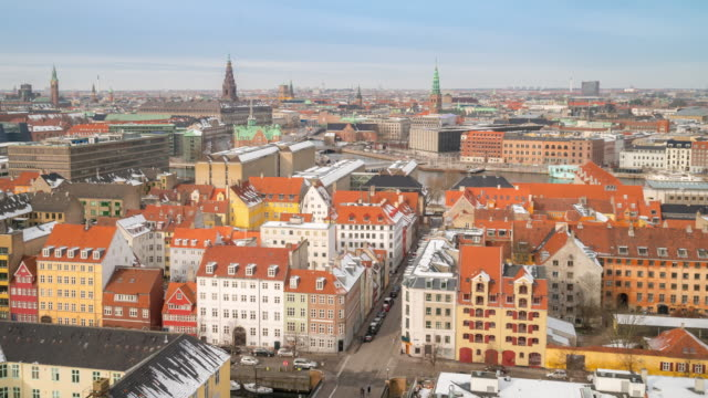 Time-lapse of Copenhagen Aerial view Denmark video