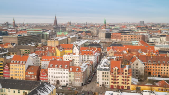 Time-lapse of Copenhagen Aerial view Denmark 4K Time-lapse of Copenhagen Aerial view Denmark, Apple ProRes 422 (HQ) 3840x2160 Format european culture stock videos & royalty-free footage