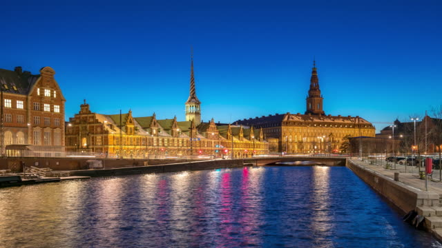 Time-lapse of Copenhagen Denmark Cityscape video