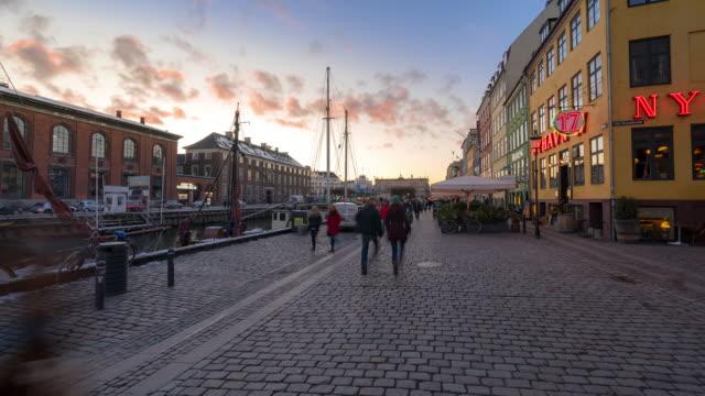 tid förflutit köpen hamn nyhavn nya hamnen i danmark - dansk kultur bildbanksvideor och videomaterial från bakom kulisserna