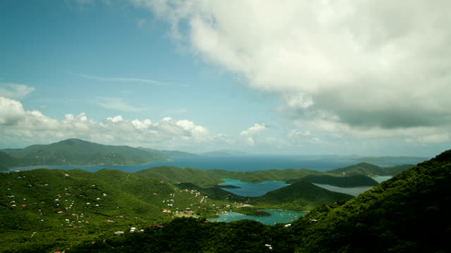 time-lapse of Coral Bay, St.John, US Virgin Islands video