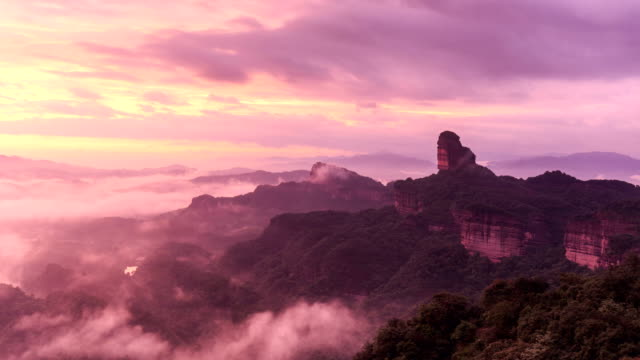 danxia 山のタイムラプス - 広東省点の映像素材/bロール