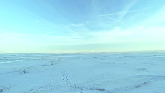 闇のタイムラプスの落下のアイスフィールドに Arctic ます。 ビデオ