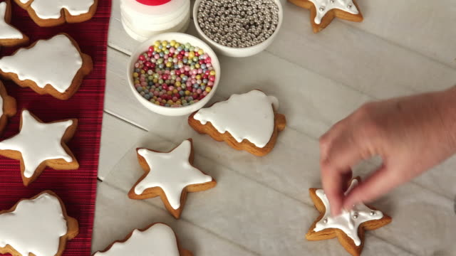 Time-Lapse of Decorating Christmas Cookies