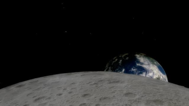 timelapse av jorduppgång över månen - earth from space bildbanksvideor och videomaterial från bakom kulisserna