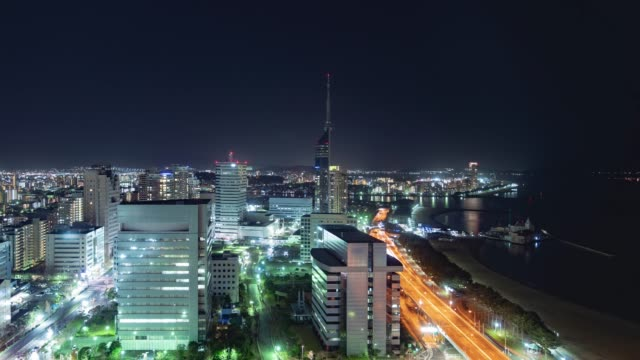 timelapse of Fukuoka city timelapse of Fukuoka city wide angle stock videos & royalty-free footage