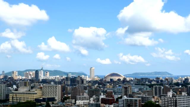 福岡市のタイムラプス - 地域点の映像素材/bロール