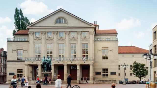ドイツ・ワイマールのドイツ国立劇場のタイムラプス ビデオ
