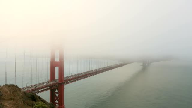 Timelapse of Golden Gate Bridge on a foggy day