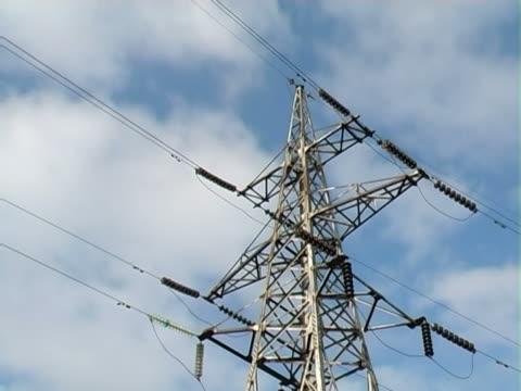 Timelapse of high-voltage line. PAL.