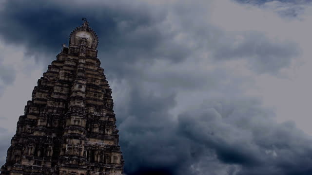 Timelapse of Hindu temple video