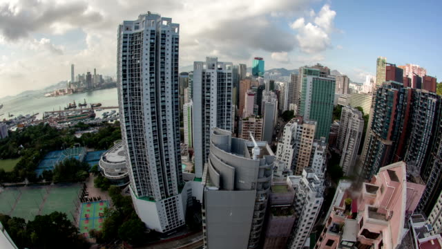 Timelapse of Hong Kong city life video