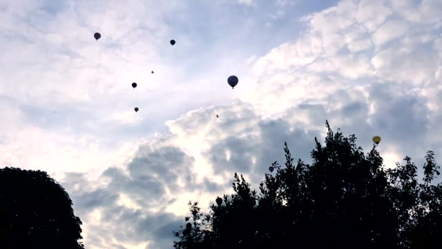 Timelapse of Hot Air Balloons video