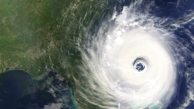 Timelapse of Hurricane hitting the East Coast of the USA video
