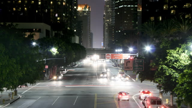 timelapse of intersection in downtown Los Angeles video