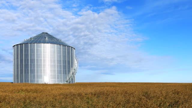 Timelapse van grote graan emmer Saskatchewan prairies, Canada video