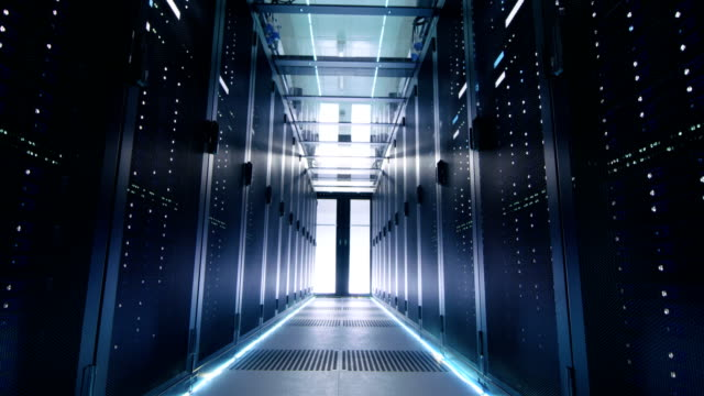 Time-Lapse of Male and Female IT Engineers, Server, Technicians and Support Working in Big Data Center. video