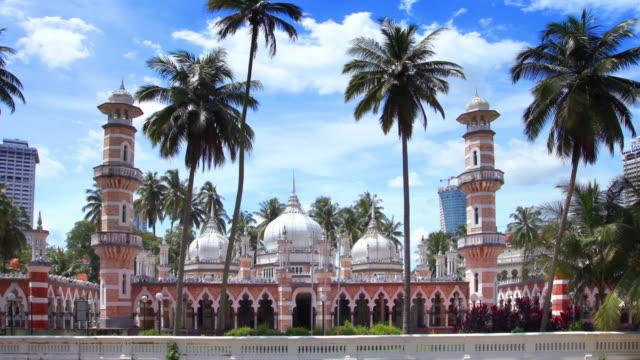 stockvideo's en b-roll-footage met timelapse van masjid jamek kuala lumpur maleisië - maleisië