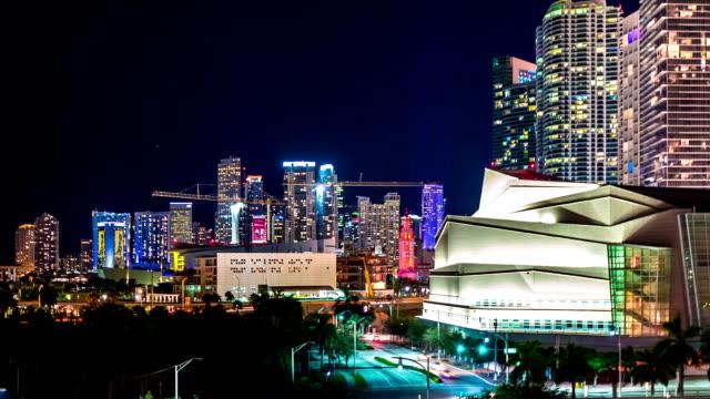 上から見たマイアミのタイムラプス - オペラ点の映像素材/bロール