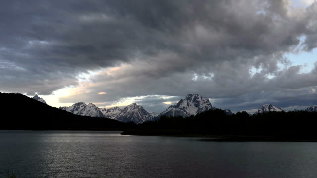 Timelapse of Morning at the Oxbow in Teton National Park video
