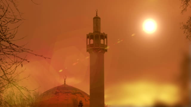 Timelapse of Mosque at sunset video